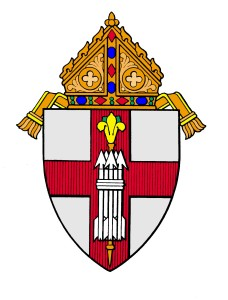 Diocesan coat of arms colorized